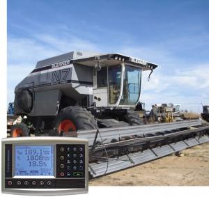 Yield monitor gleaner combine