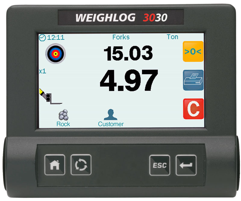 Weighlog 3030 wheel loader skid steer scales