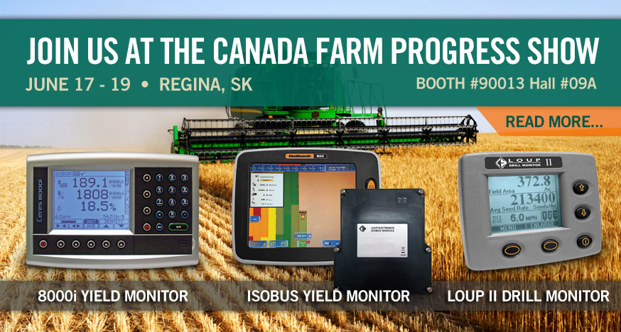 Loup Electronics Canada Farm Progress Show