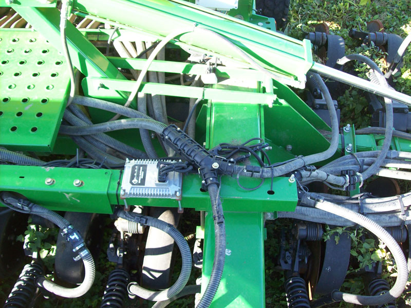 blockage sensors are then routed into a central blockage module which then  connects into the main drill harness